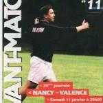 Avant Match n°11 saison 02/03