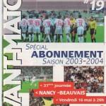 Avant Match n°19 saison 02/03