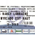 Billet Bordeaux-Nancy - Saison 2011-2012 - L1 (16e j., 04/12/2011)