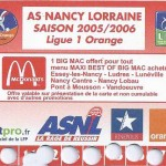 Carte d'abonnement - Saison 2005-2006
