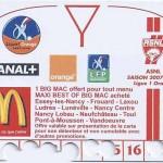 Carte d'abonnement - Saison 2007-2008