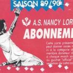 Carte d'abonnement - Saison 1989-1990