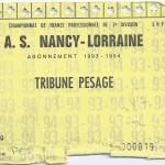 Carte d'abonnement - Saison 1993-1994