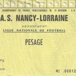 Carte d'abonnement - Saison 1994-1995