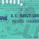 Carte d'abonnement - Saison 1995-1996