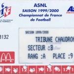 Carte d'abonnement - Saison 1999-2000