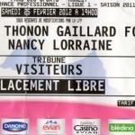 Billet Évian TG-Nancy - Saison 2011-2012 - L1 (25e j., 25/02/2012)