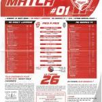 Feuille de Match n°01 saison 09/10