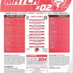 Programme Nancy-Toulouse (Feuille de match #02) - Saison 2010-2011 - L1 (4e j., 28/08/2010)