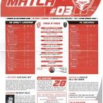 Feuille de Match n°03 saison 09/10