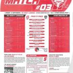 Programme Nancy-Brest (Feuille de match #03) - Saison 2010-2011 - L1 (6e j., 18/09/2010)