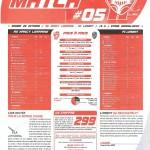 Programme Nancy-Lorient (Feuille de match #05) - Saison 2010-2011 - L1 (10e j., 23/10/2010)