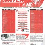 Programme Nancy-Auxerre (Feuille de match #12) - Saison 2010-2011 - L1 (23e j., 12/02/2011)