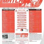 Programme Nancy-Caen (Feuille de match #14) - Saison 2010-2011 - L1 (27e j., 12/03/2011)