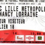 Billet Lille-Nancy - Saison 2011-2012 - L1 (38e j., 20/05/2012)