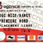 Billet Nice-Nancy - Saison 2011-2012 - L1 (27e j., 10/03/2012)