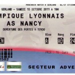 Billet Lyon-Nancy - Saison 2011-2012 - L1 (10e j., 15/10/2011)