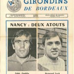 Programme Bordeaux-Nancy - Saison 1970-1971 - D1 (14e j., 18/11/1970)