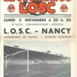 Programme Lille-Nancy - Saison 1975-1976 - D1 (12e j., 03/11/1975)