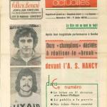 Programme St-Étienne-Nancy - Saison 1975-1976 - D1 (33e j., 08/06/1976)