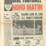 Programme Lens-Nancy - Saison 1976-1977 - D1 (31e j., 28/04/1977)
