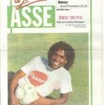 Programme ASSE-Nancy - Saison 1991-1992 - D1 (12e j., 28/09/1991)