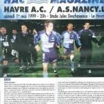 Programme Le Havre-Nancy - Saison 1998-1999 - D1 (31e j., 01/05/1999)