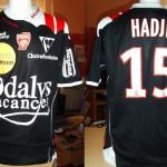 Maillot championnat extérieur porté/préparé (Youssouf Hadji) - Saison 2007-2008 [collection privée Jumeaudf]