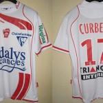Maillot championnat domicile porté/préparé (Gaston Curbelo) - Saison 2008-2009