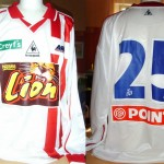 Maillot Coupe de la Ligue domicile porté/préparé (Pablo Correa) – Saison 2001-2002 [Collection privée Jumeaudf]