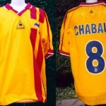Maillot championnat extérieur officiel préparé pour Sébastien Chabaud (sans sponsor) - Saison 2001-2002 [Collection privée Jumeaudf]