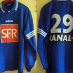 Maillot Coupe de la Ligue extérieur porté/préparé – Saison 1996-1997 (16e de finale Cannes-Nancy 11/12/1996)