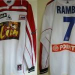 Maillot Coupe de la Ligue porté/préparé (Olivier Rambo) – Saison 2000-2001 [Collection privée ASNL54600]