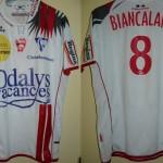 Maillot championnat domicile porté/préparé (Frédéric Biancalani) - Saison 2007-2008 [Collection privée ASNL54600]