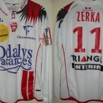 Maillot championnat domicile porté/préparé (Monsef Zerka) - Saison 2007-2008 [Collection privée ASNL54600]