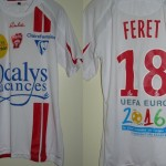 Maillot championnat domicile porté (Julien Féret, Nancy-Sochaux, 26/09/2009) - Saison 2009-2010 [Collection privée ASNL54600]