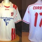 Maillot Coupe de l'UEFA domicile porté/préparé (Gaston Curbelo) - Saison 2008-2009 [Collection privée Jumeaudf]