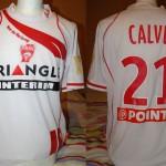 Maillot Coupe de la Ligue porté/préparé (Jean Calvé) - Saison 2008-2009 [Collection privée Jumeaudf]