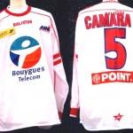 Maillot Coupe de la Ligue porté/préparé (Daoud Camara) - Saison 2002-2003 [Collection privée Jumeaudf]
