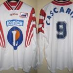 Maillot championnat domicile porté/préparé (Tony Cascarino) - Saison 1997-1998