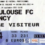Billet Toulouse-Nancy - Saison 2011-2012 - L1 (8e j., 24/09/2011)