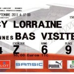 Billet Rennes-Nancy  - Saison 2011-2012 - L1 (6e j., 18/09/2011)
