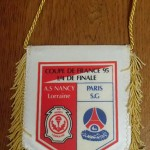 fanion quart de final coupe de france asnl-psg 1995