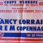 Affiche Coupe d'Europe Nancy-FREM Copenhague saison 1978-1979