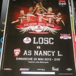 Affiche Lille Nancy saison 2011 2012 38eme journée