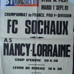 Affiche Nancy-Sochaux saison 1981 1982 01-09-81