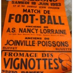 Affiche match amical Nancy - Joinville Poisson 18-06-1983