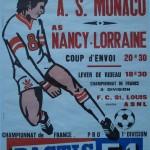 Affiche saison 1975 1976 Nancy Monaco 25 10 1975
