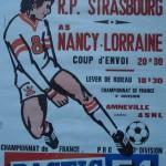 Affiche saison 1975 1976 Nancy Strasbourg RP 20 09 1975