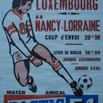 Affiche saison 1975 1976 match amical Nancy Luxembourg